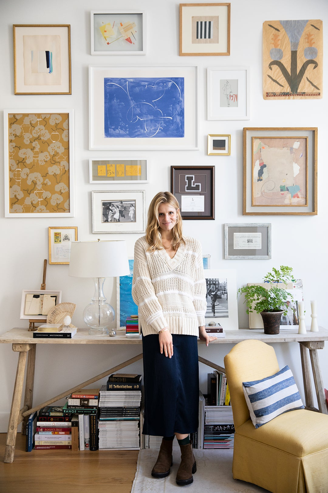 Alexandra Morris With Her Gallery Wall