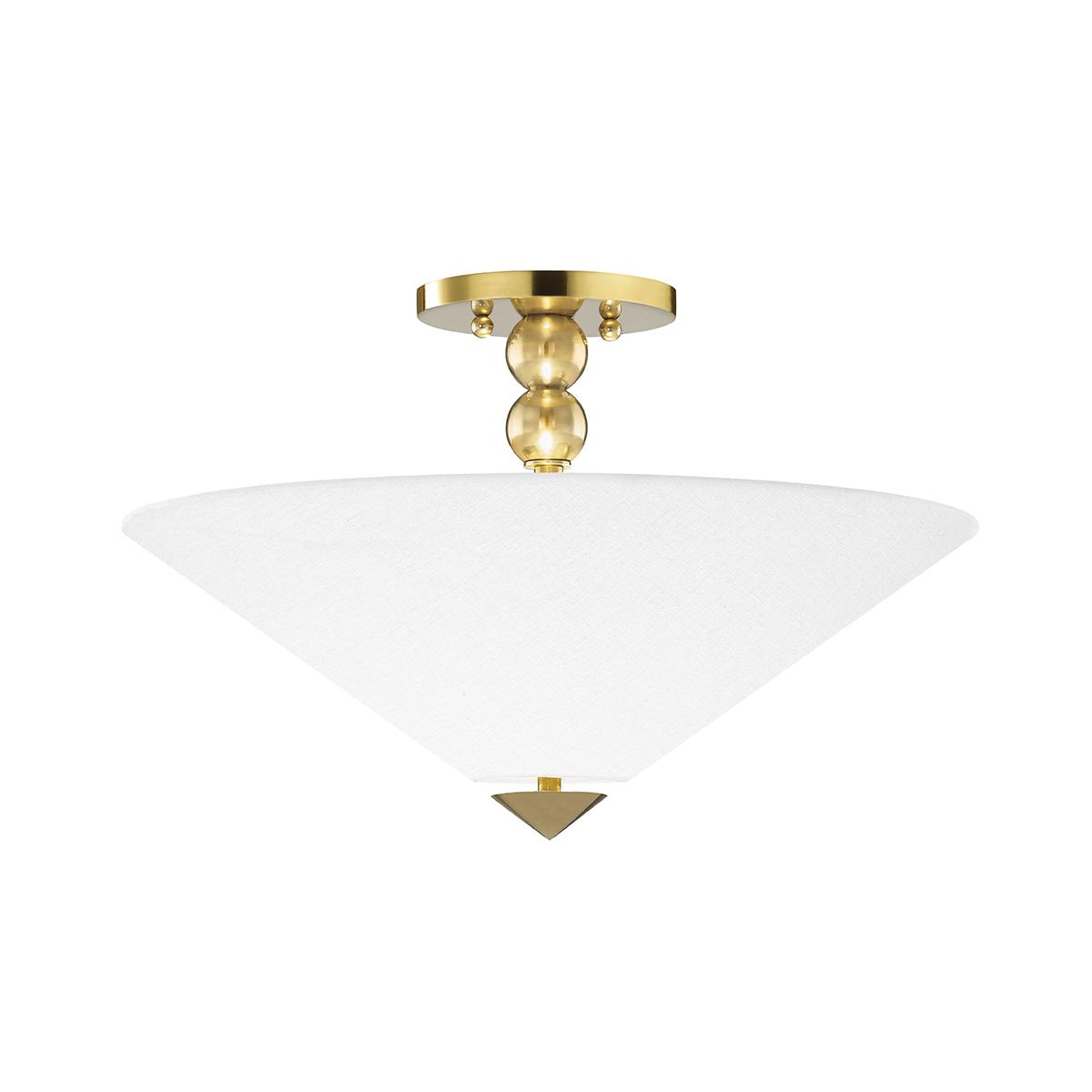flared flush mount light