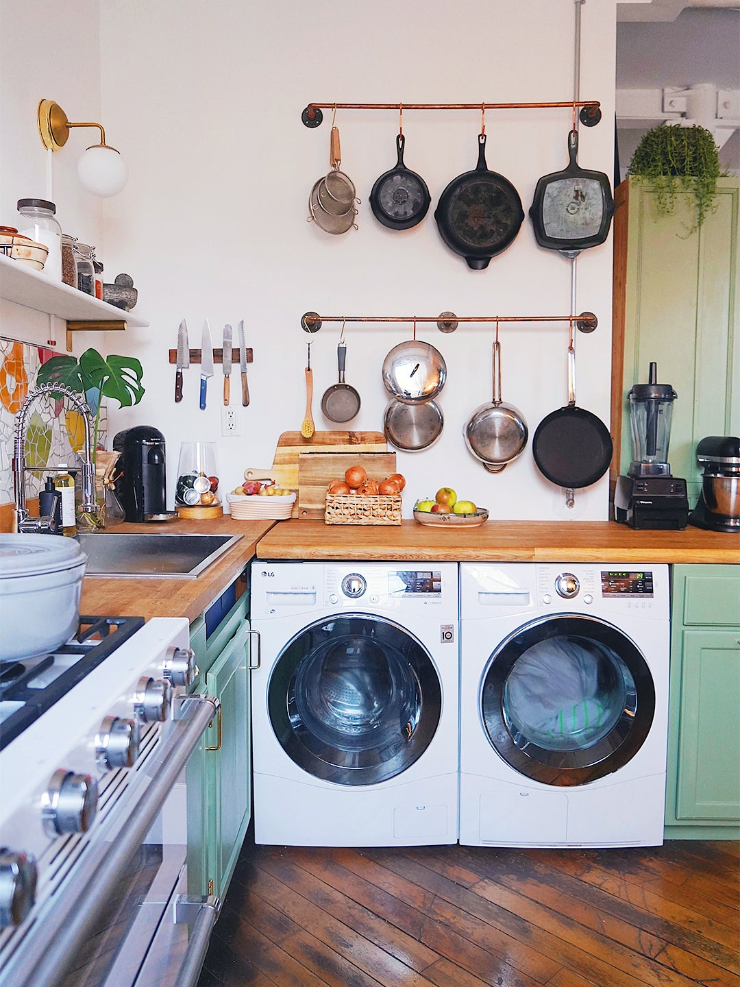laundry machines under counter