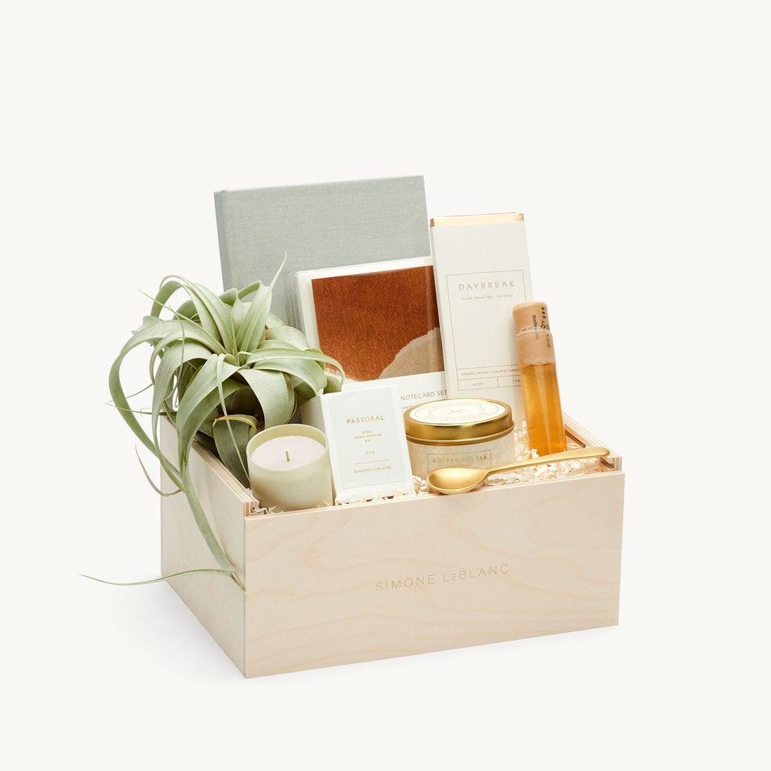 Best Gift Baskets Option: Simone LeBlanc Relax and Renew Gift Basket