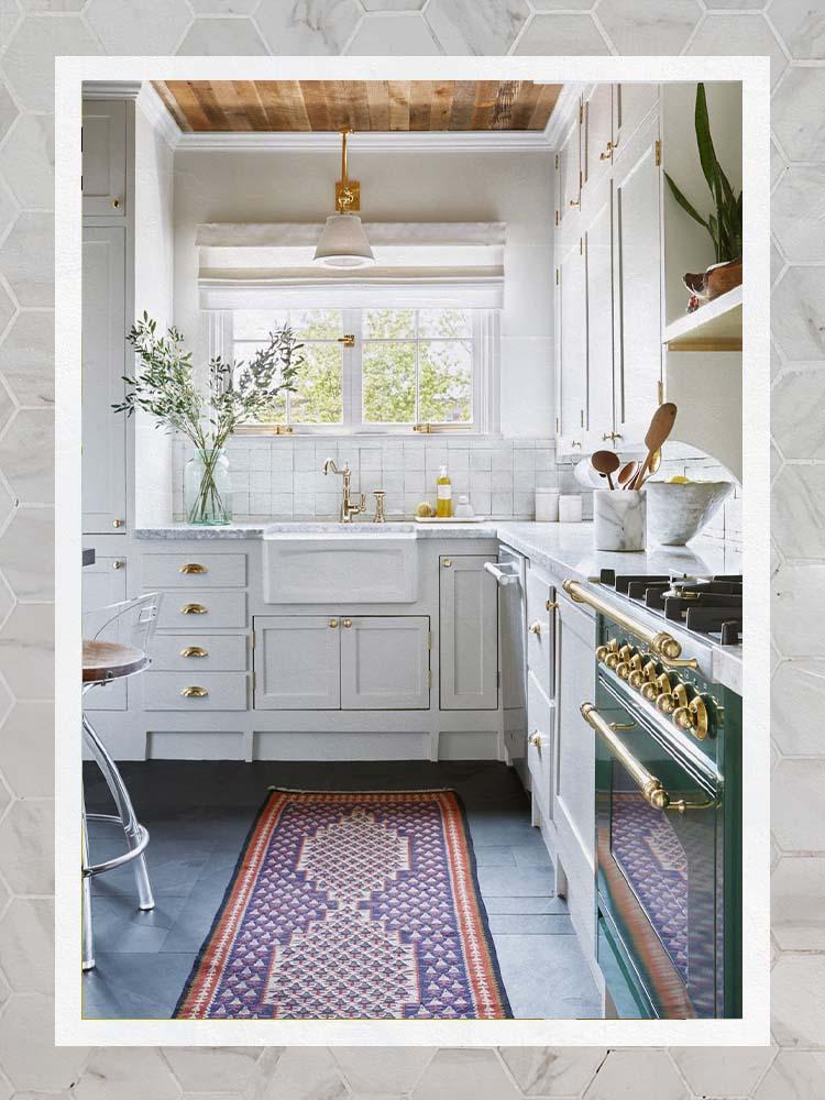 Dee Murphy Stone Floor Kithcen White Creamy Cabinets