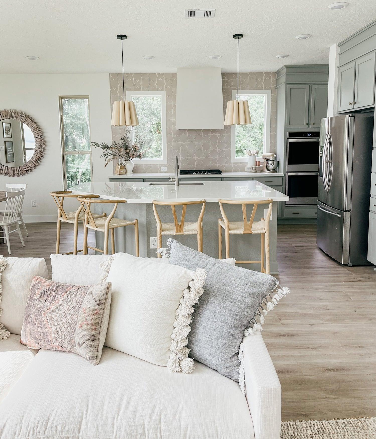 Light Open Floor Plan Kitchen