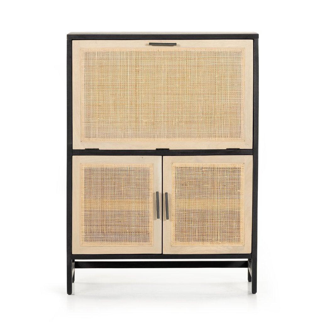 rattan bar cabinet