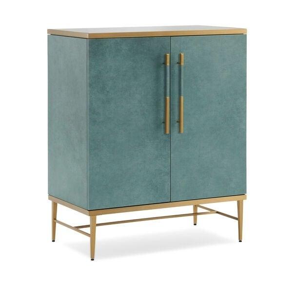blue bar cabinet