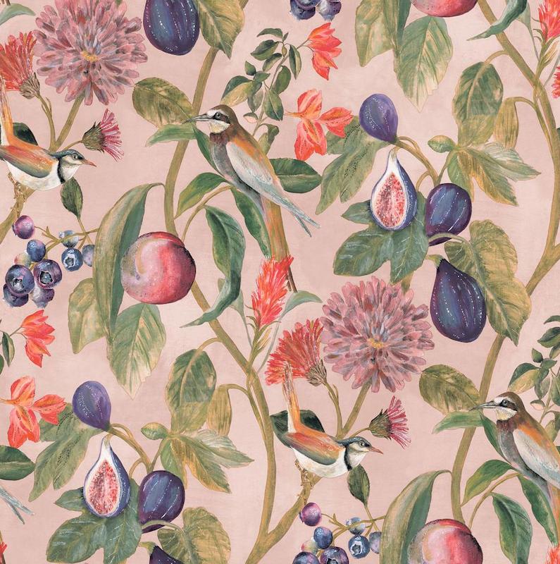 pink fruit wallpaper