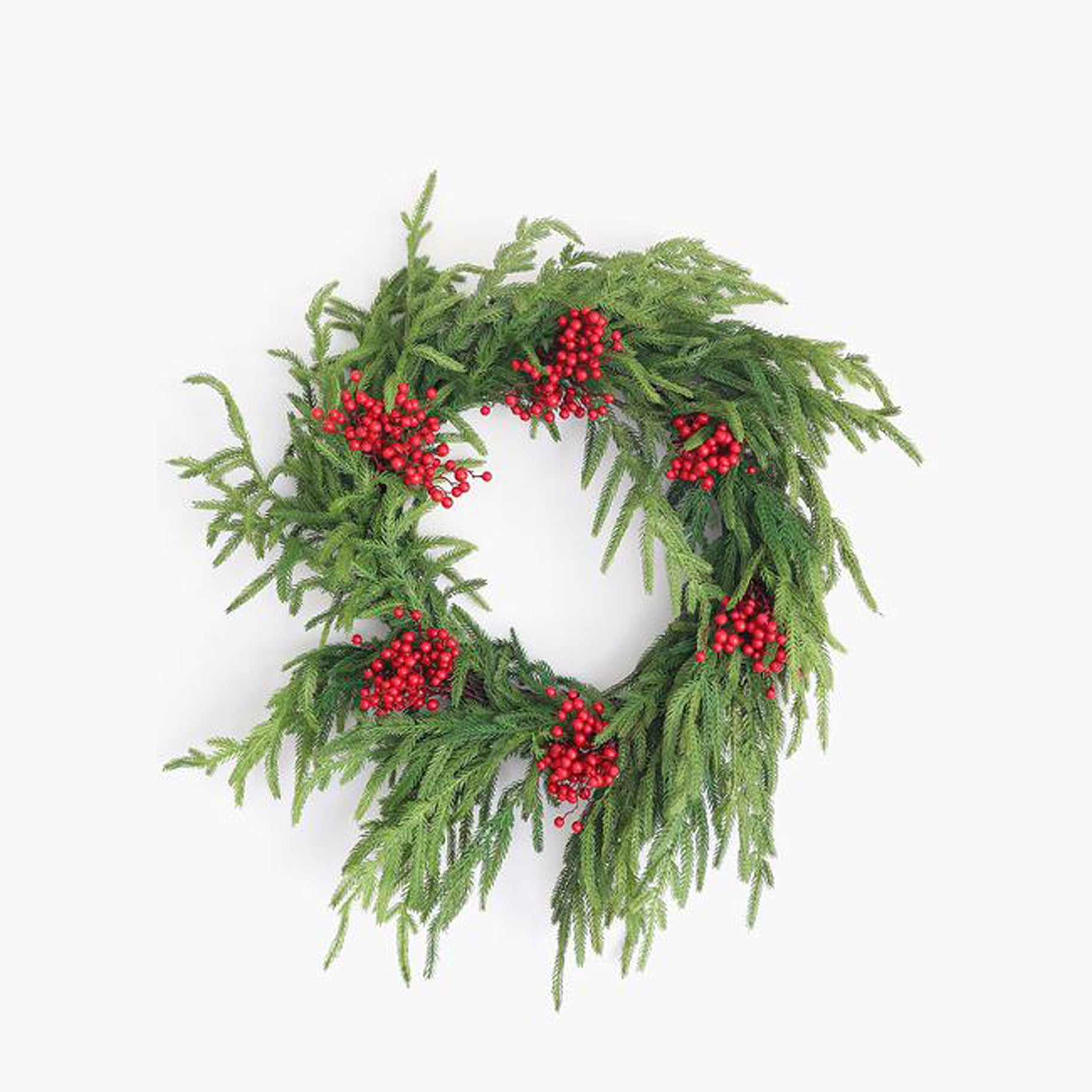 The Best Holiday Wreaths Option: Afloral Real Touch Norfolk Pine Wreath