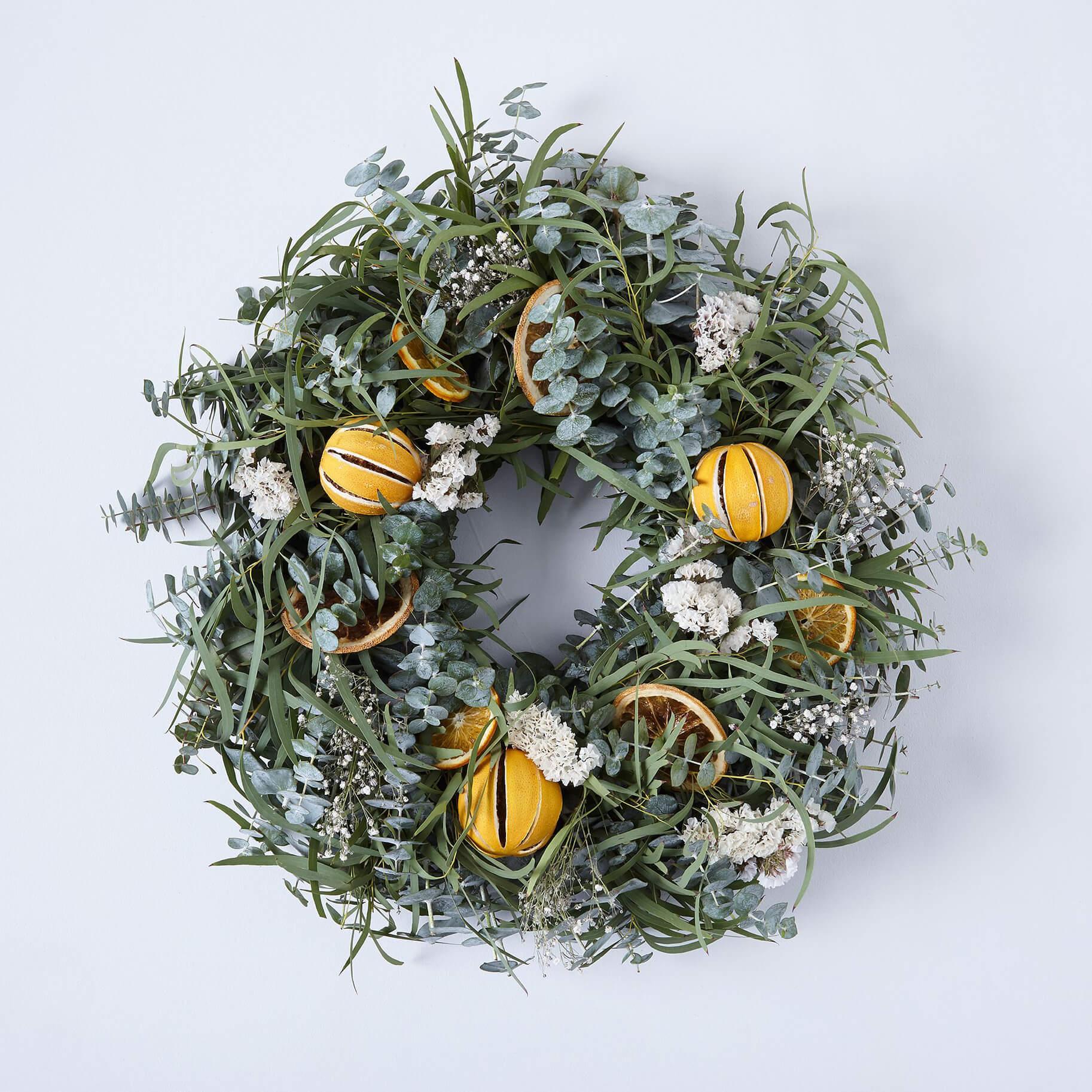 The Best Holiday Wreaths Option: Creekside Farm Citrus Wreath