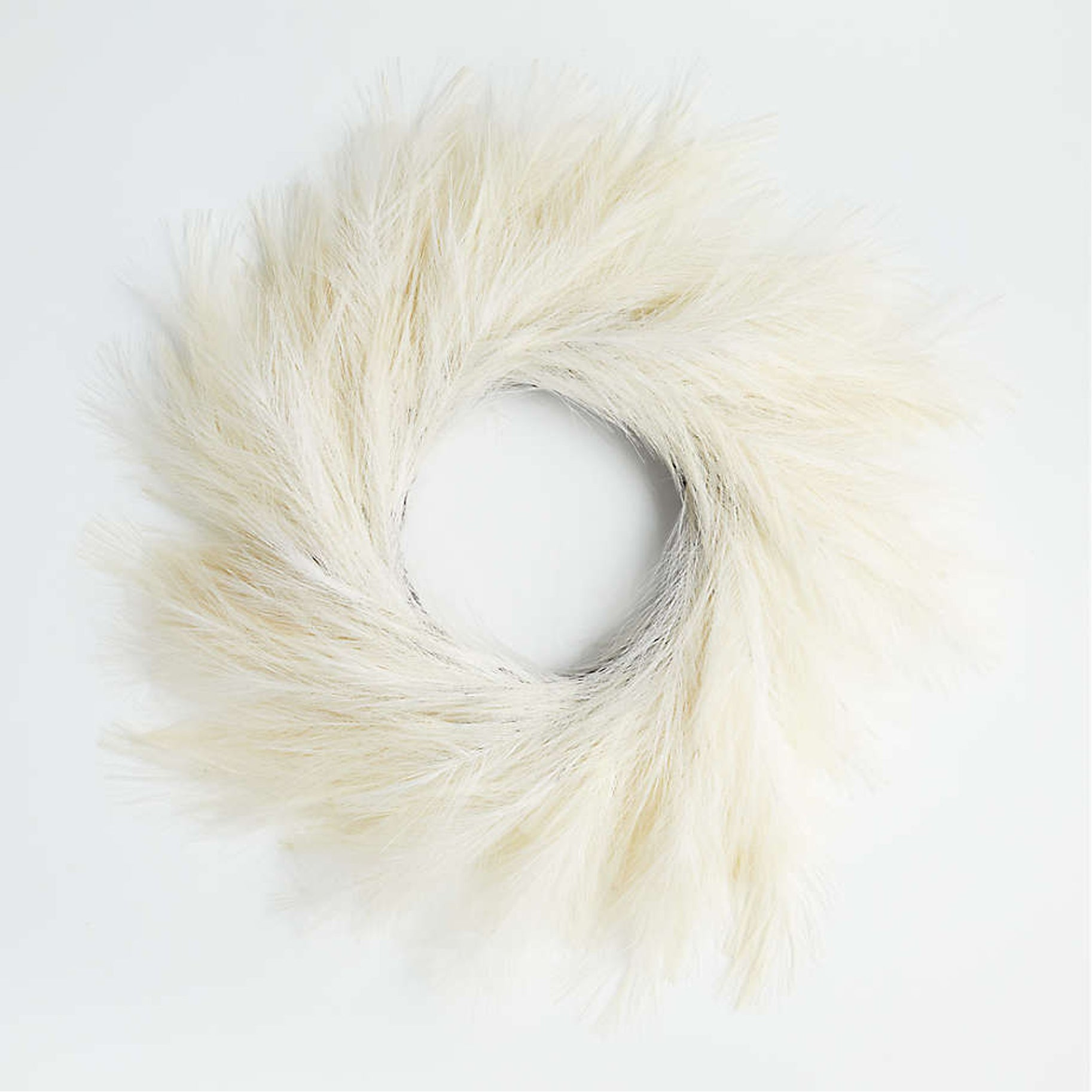 The Best Holiday Wreaths Option: Faux White Pampas Grass Wreath