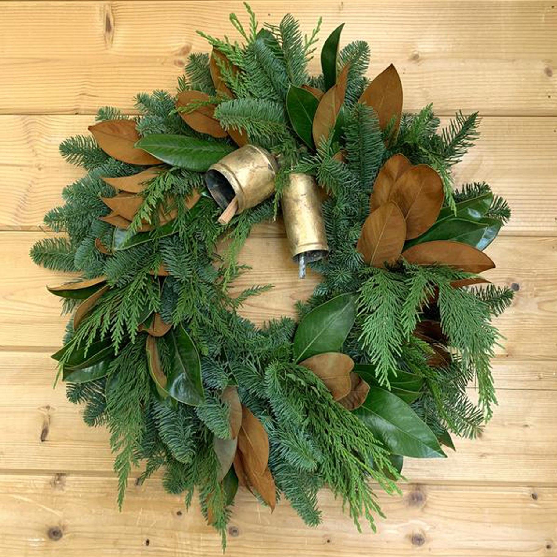 The Best Holiday Wreaths Option: Fresh Fragrant Bell Wreath
