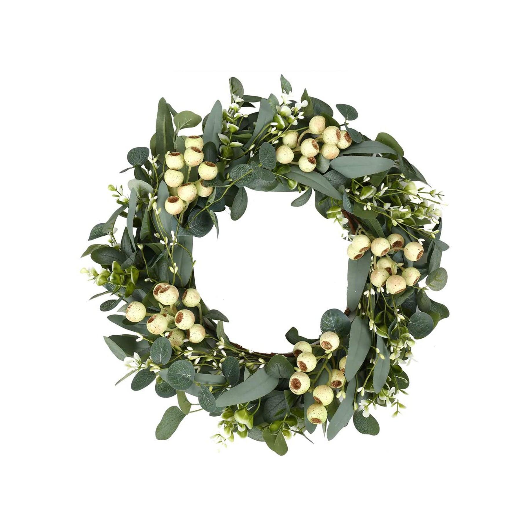 The Best Holiday Wreaths Option: Green Eucalyptus Wreath
