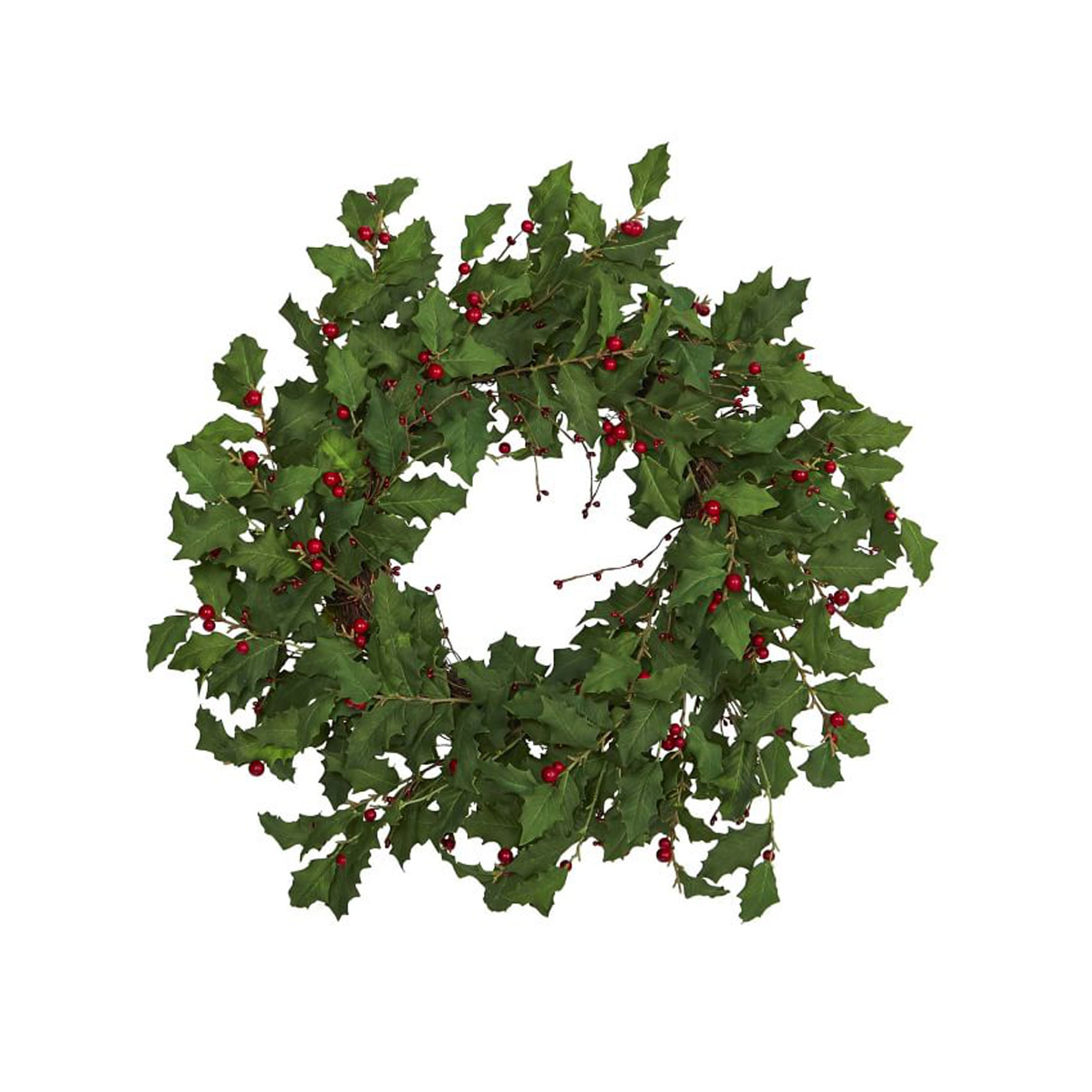 The Best Holiday Wreaths Option: West Elm Faux Holly Berry Wreath