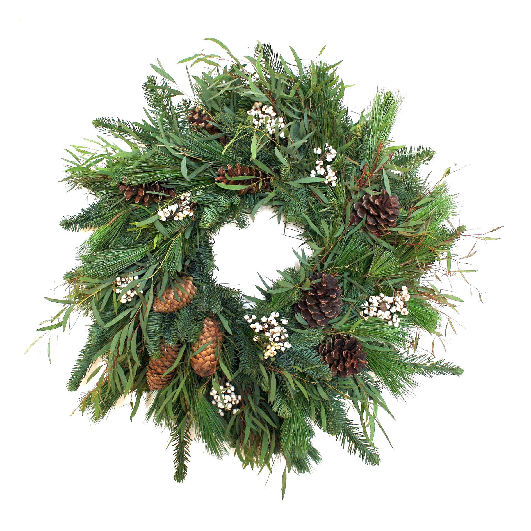 The Best Holiday Wreaths Option: Woodland Tallow Berry Wreath