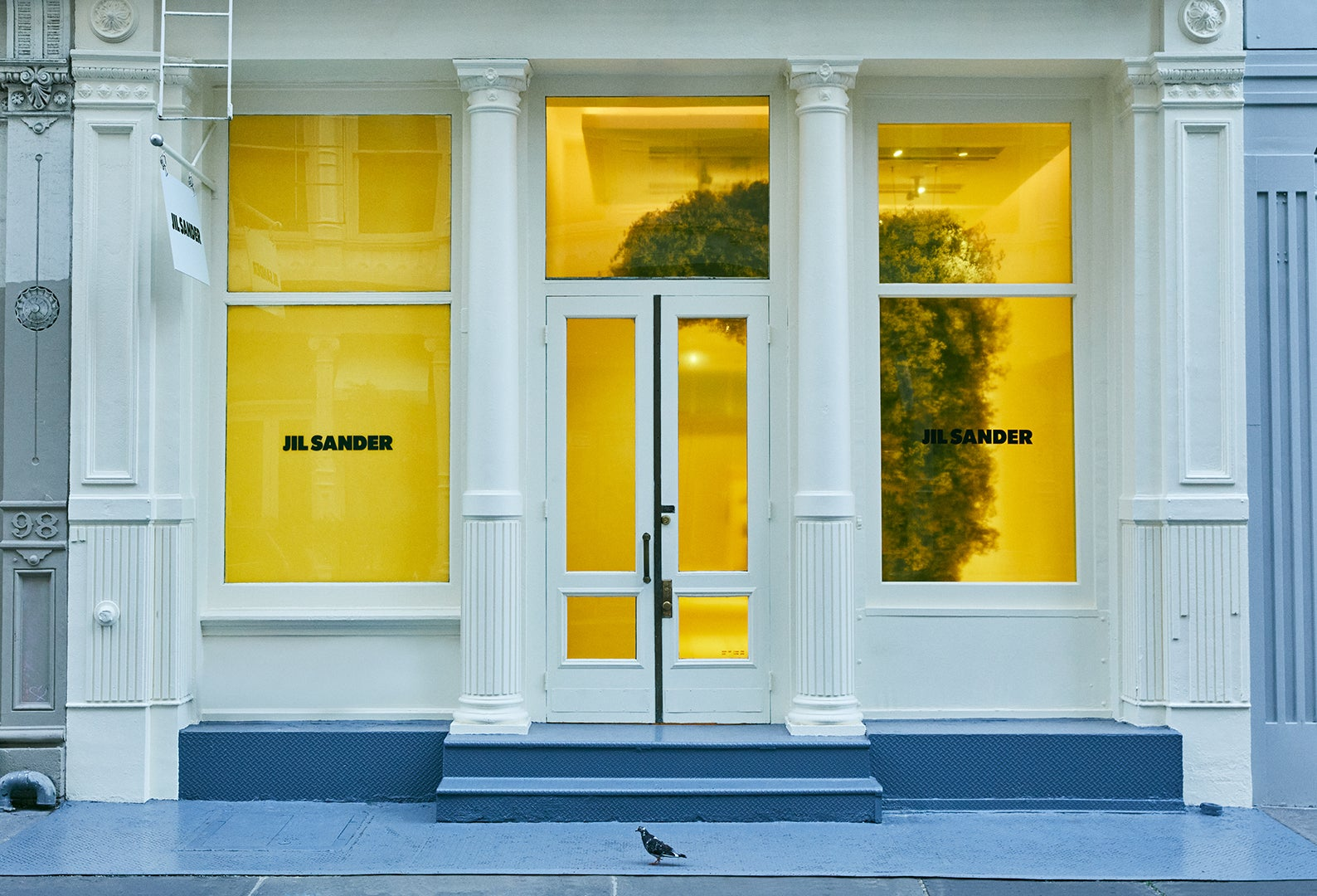 yellow exterior store front