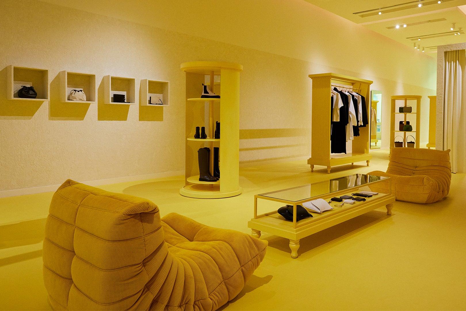 yellow store interior