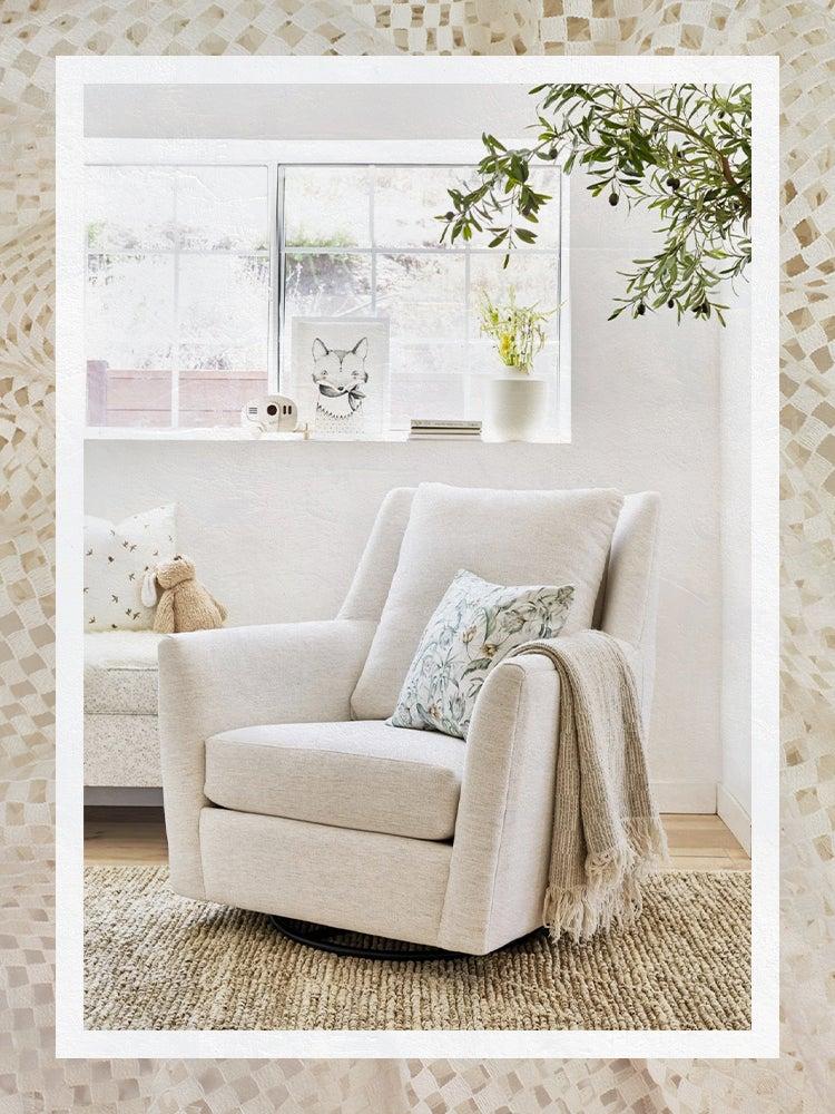 White Nursery Glider Chair