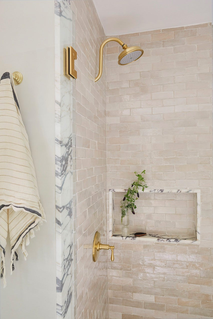 marble lined shower
