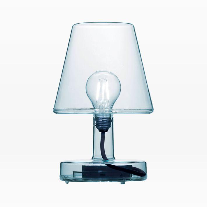 blue transparent lamp
