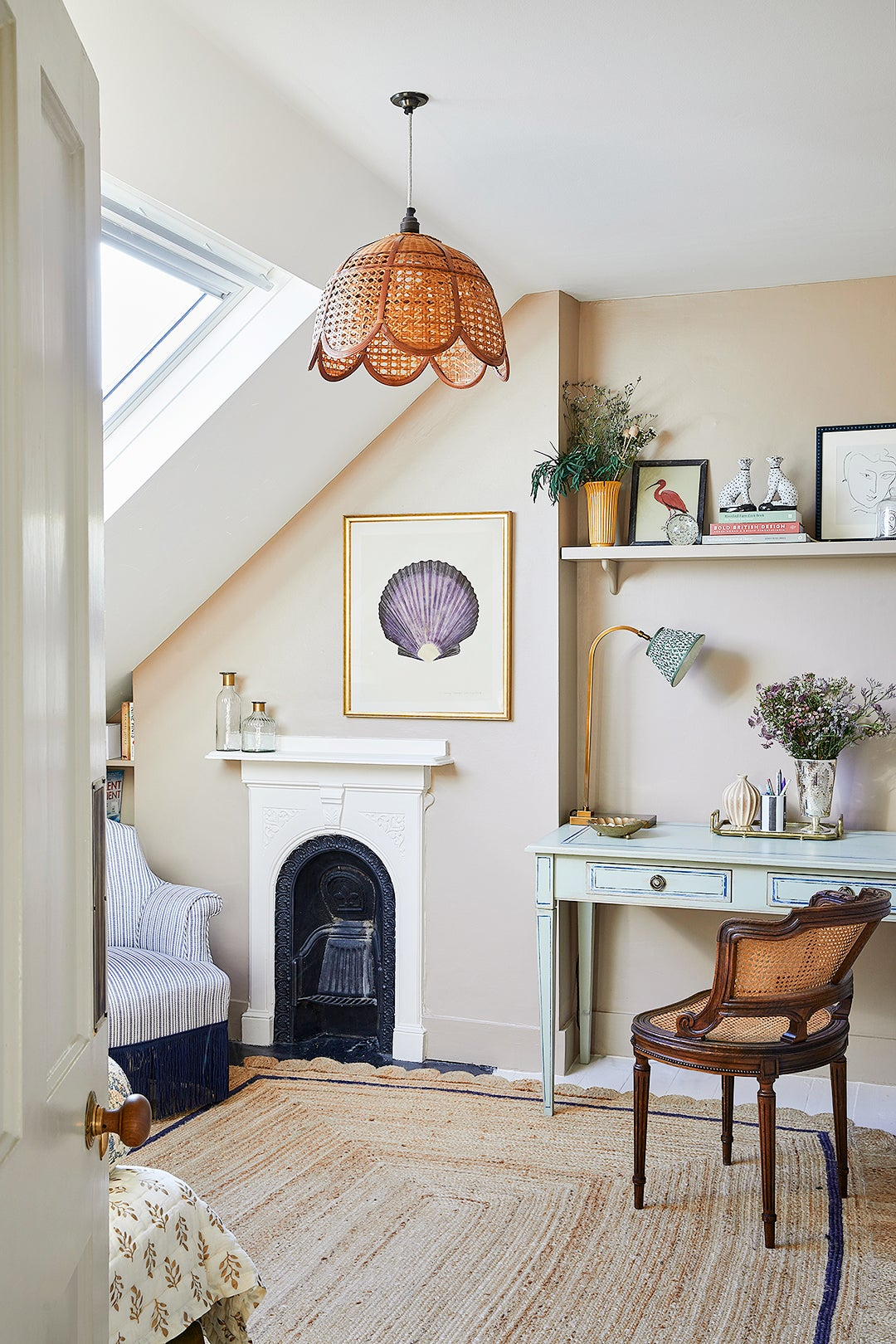cozy angled sloped nook