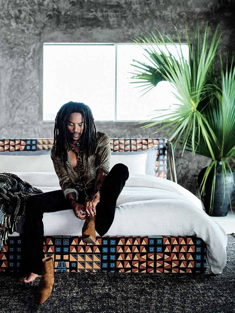 Lenny Kravitz's New CB2 Storage Is Inspired by a Piece in His Bahamas Home