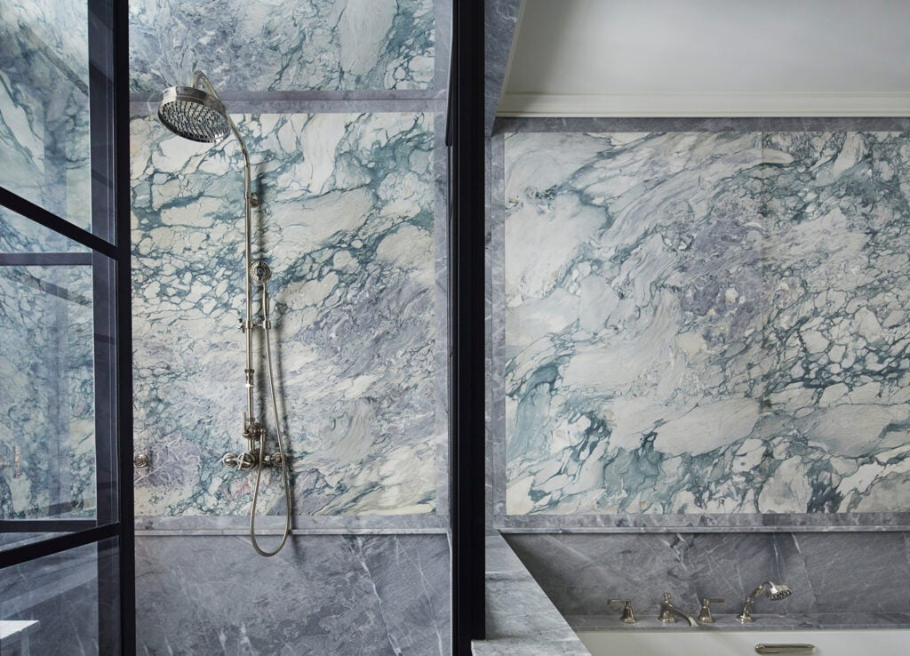 blue marble shower