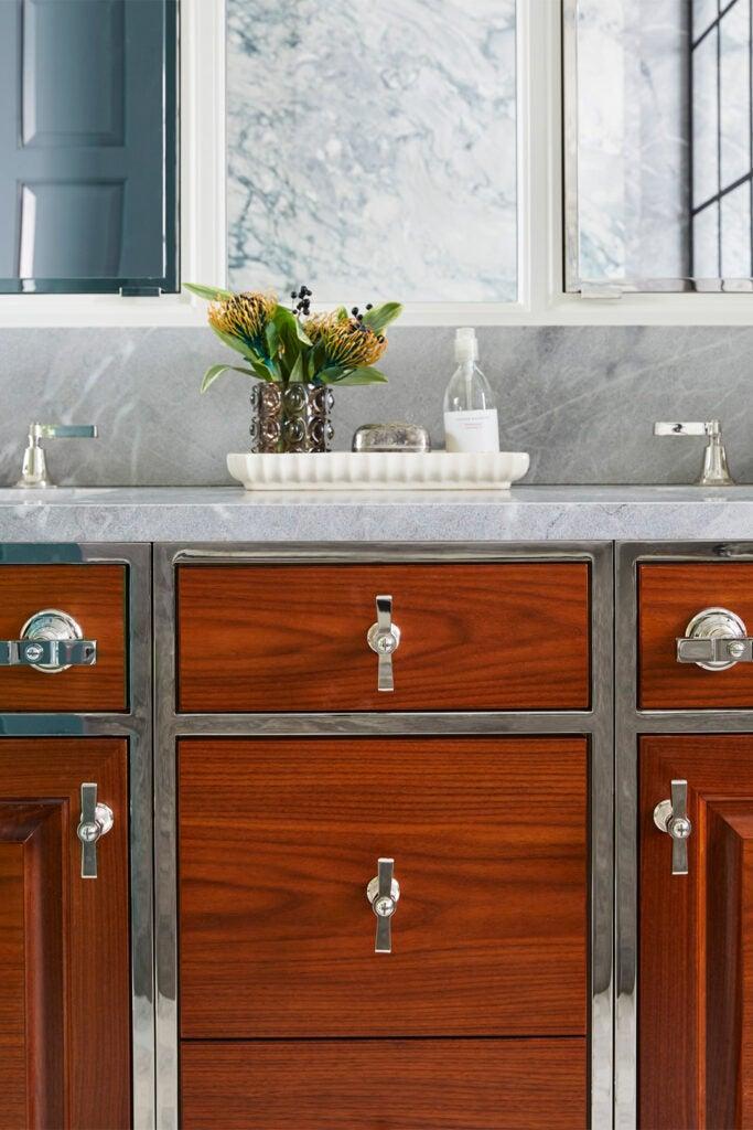 wood vanity cabinets