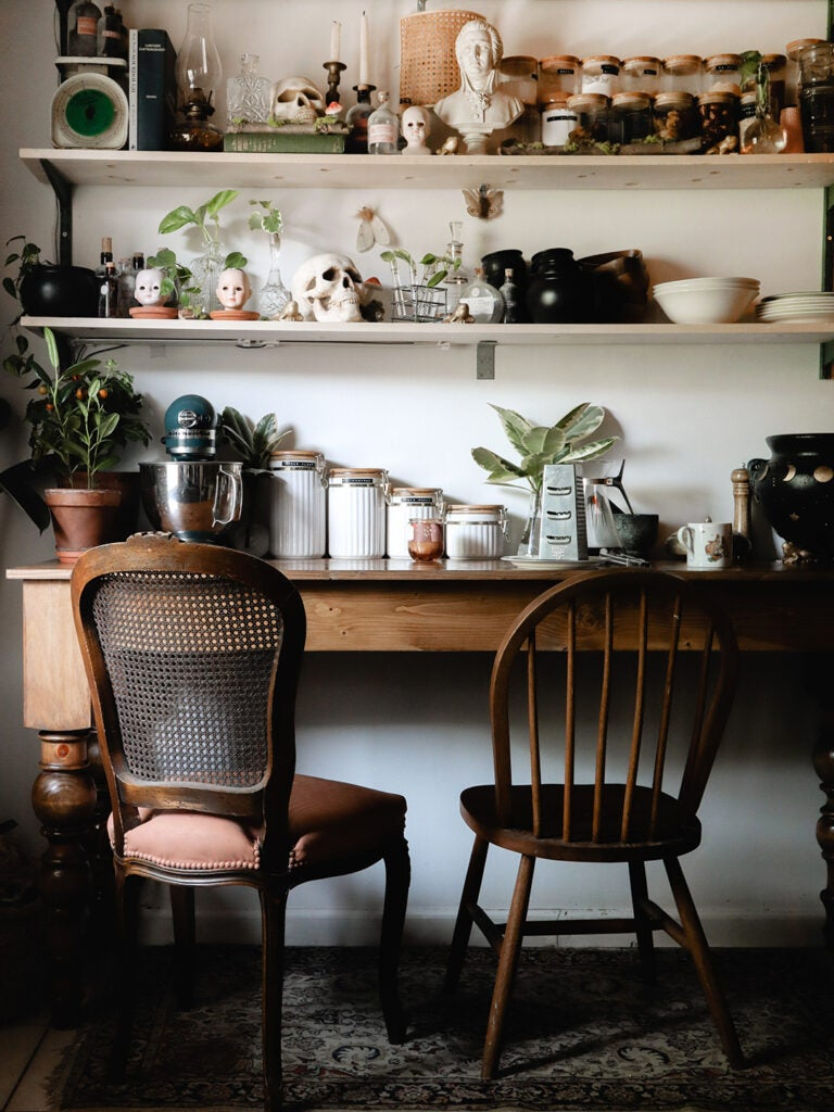 A $10 DIY Was the Finishing Touch of This Creative's Creepy-Cute Kitchen