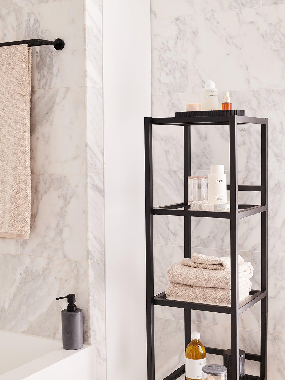 bathroom storage shelf
