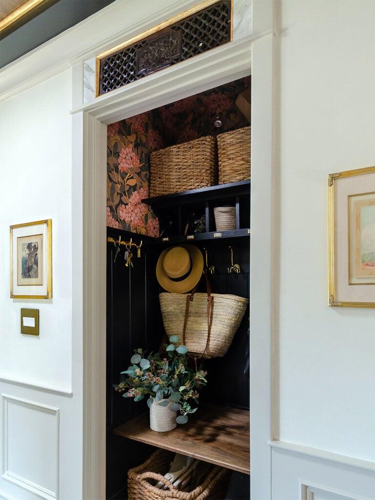 hallway mudroom closet