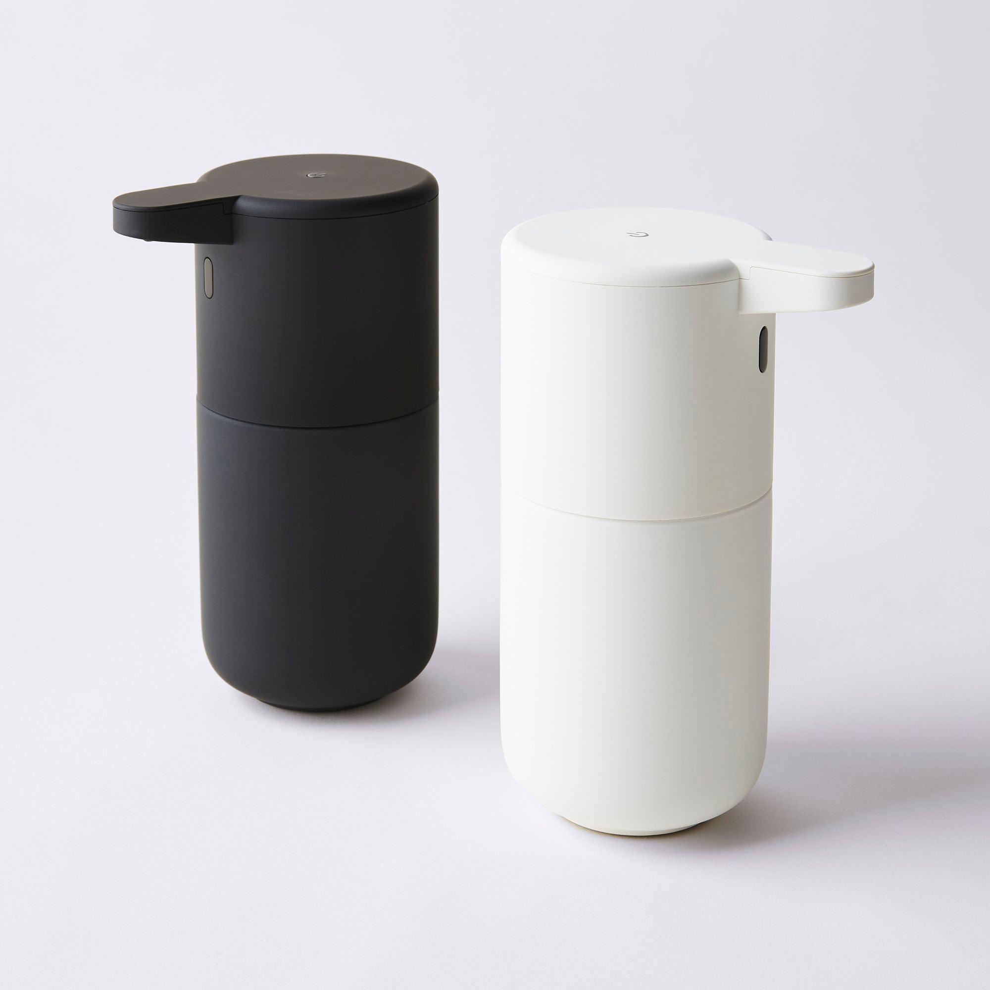 black and white hand sanitizer dispensers