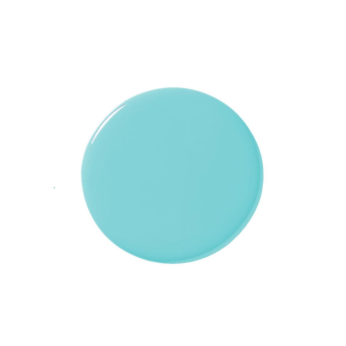 turquoise paint blob