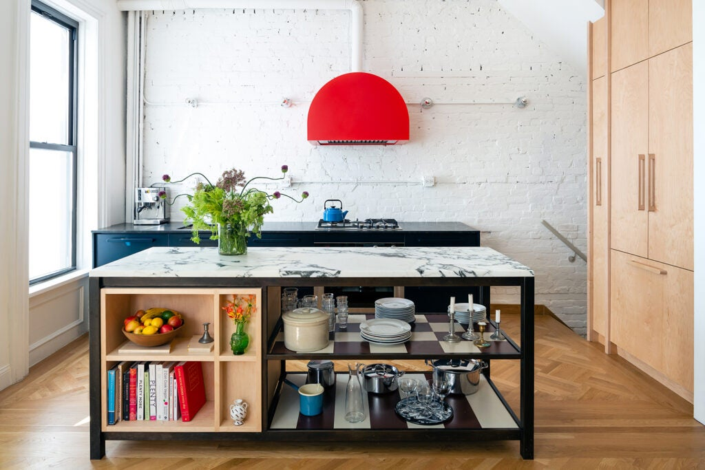 kitchen island looks like furniture