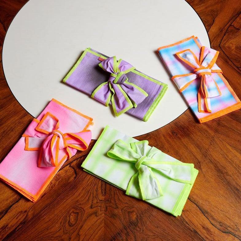 Colorful fabric napkins