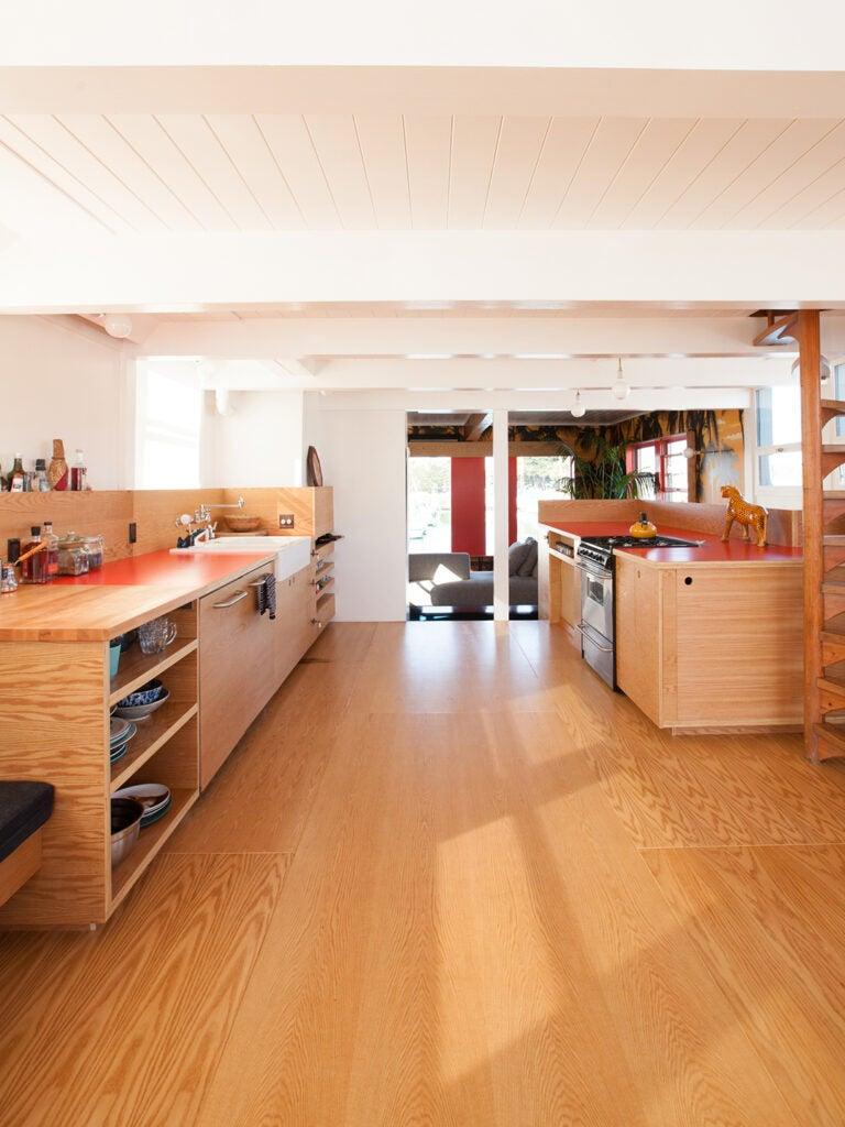 open wood kitchen