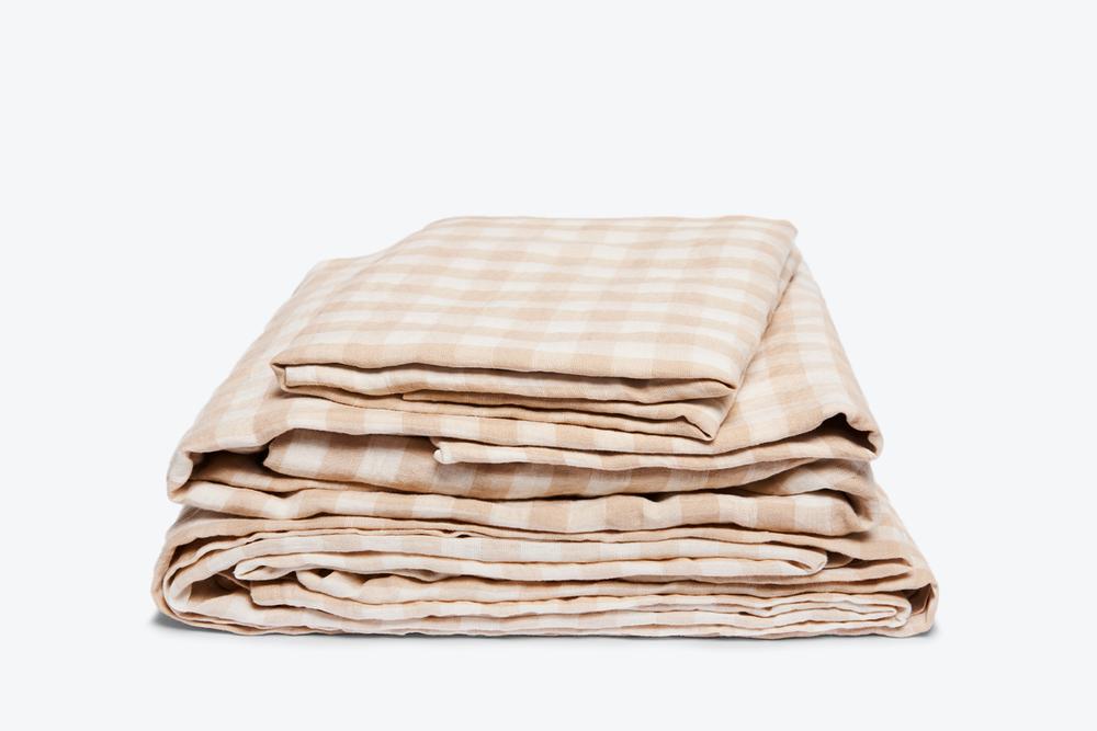 gingham sheet set