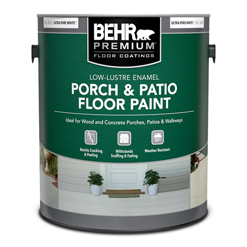Green Can of Concrete Paint by Behr