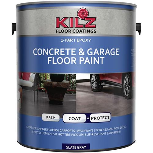 Blue can of concrete paint by KILZ