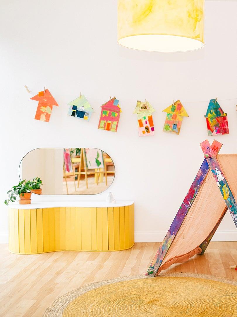 kids playroom wit tipi