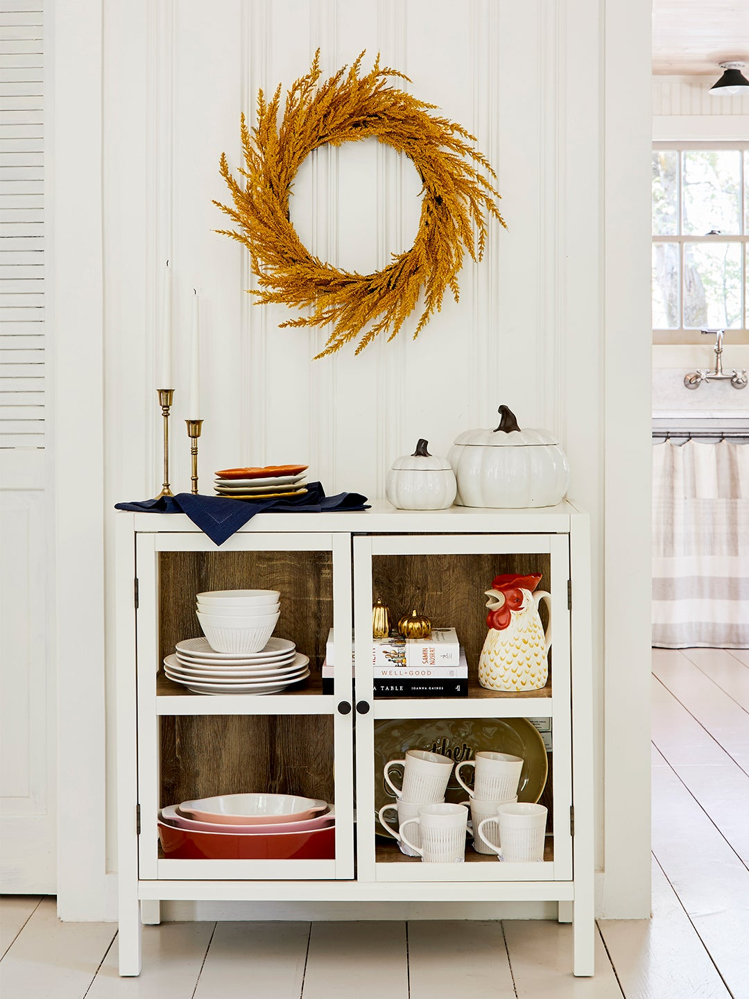 holiday themed entryway